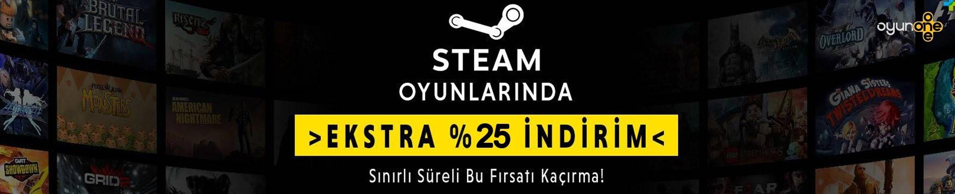 Steam %25 İndirim.
