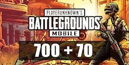 700 + 70 PUBG Mobile UC