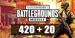 420 + 20 PUBG Mobile UC