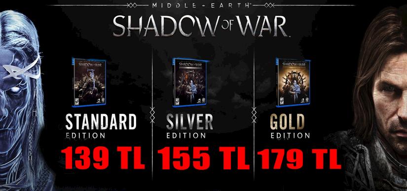 M.E Shadow of War çıktı! Hemde inanılmaz fiyatları ile, KEY şeklinde teslimat ile.