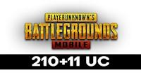210 + 11 PUBG Mobile UC