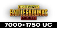 7000 + 1750 PUBG Mobile UC