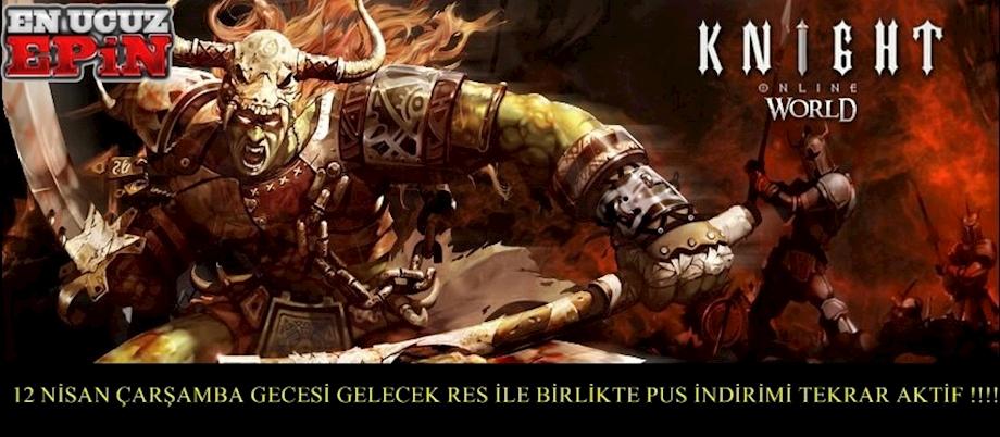 KNİGHT ONLİNE PUS İNDİRİMİ