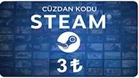 Steam Cüzdan Kodu 3 TL