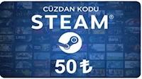 Steam Cüzdan Kodu 50 TL