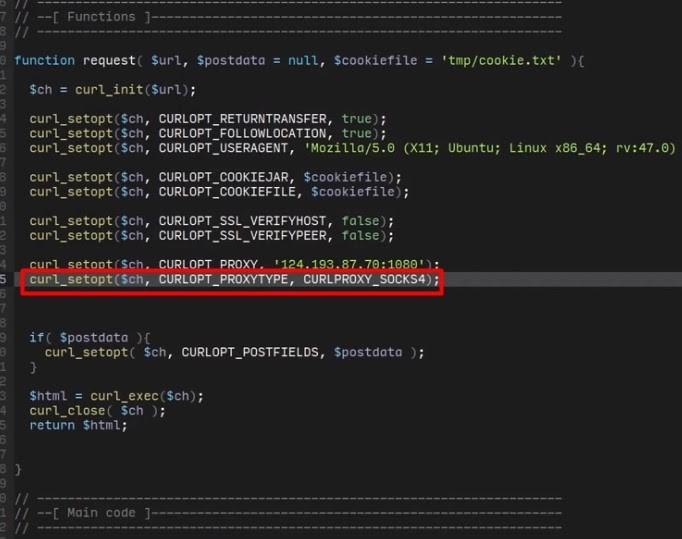 «CURLOPT_PROXYTYPE» yazın, proxy sunucusunun türünü cURL sabiti ile belirtin