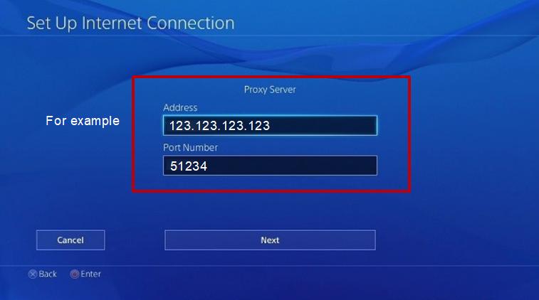 Bağlantı noktasını ve IP adresini girin