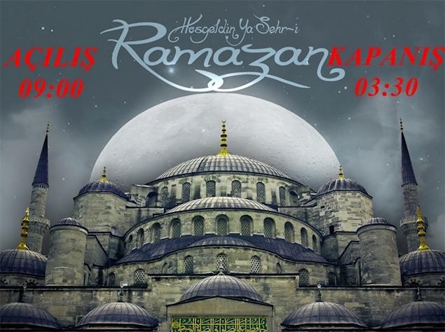Ramazanda 3e kadar açığız