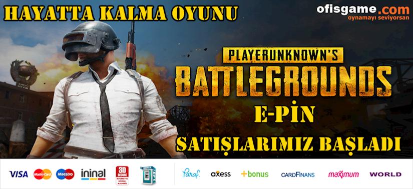 Battlegrounds PUBG E-Pin Satışlarımız Başladı