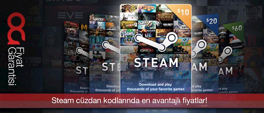 Steam Cüzdan Kodları En Avantajlı Fiyatlar