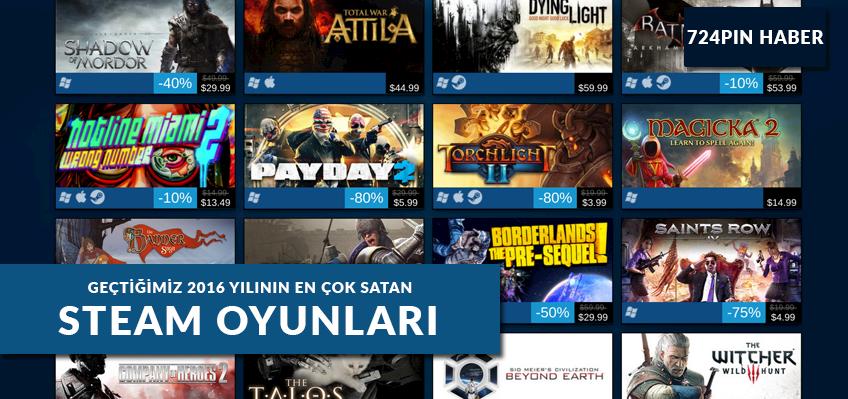 """Geçtiğimiz """"2016"""" Yılının En Çok Satan Steam Oyunları"""