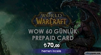World of Warcraft 60 Günlük Prepaid Card İndirimde!