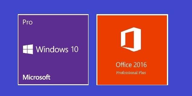 Windows 10 Pro + Office 2016 Professional Plus