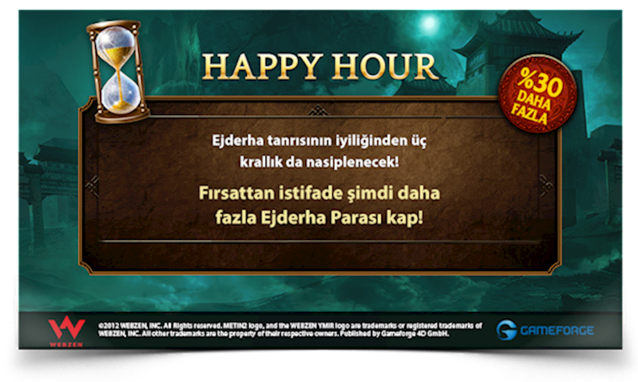 METİN2 HAPPY HOUR %30