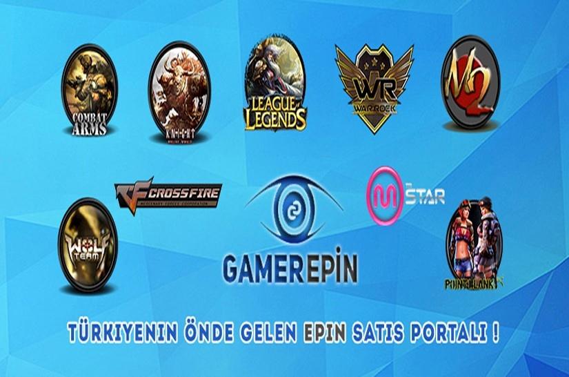 Türkiye'nin önde gelen Epin Satış Portalı gamerepin.com