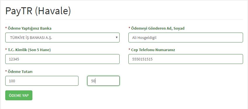 PayTR Ödeme Bildirimi