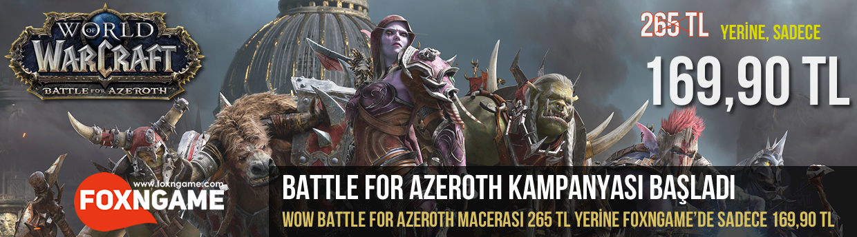 World of Warcraft Battle for Azeroth İndirimi Başladı!