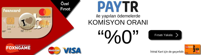 PAYTR ÖDEMELERİNDE KOMİSYON ORANI ARTIK %0.
