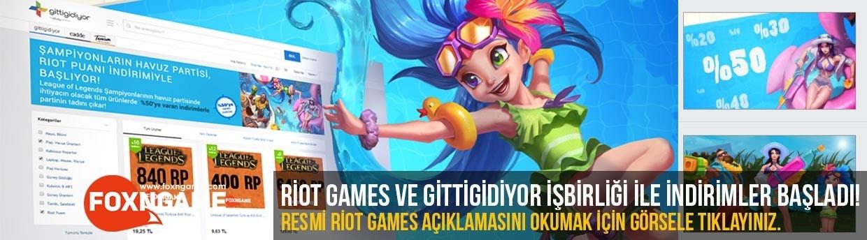 Foxngame, Riot Games ve Gittigidiyor İşbirliği Riot Points İndirimleri Başladı!