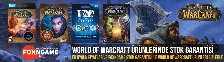 World of Warcraft Ürünlerinde Stok ve Uygun Fiyat Garantisi