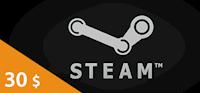 Steam Wallet Card 30 USD
