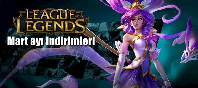League of Legends Mart ayı indirimleri listesi