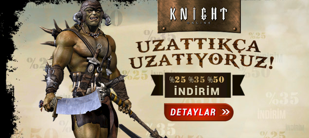 Yine Yeni Yeniden Knight Online PUS İndirimi
