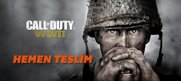 Call of Duty  WWII Şimdi satışta hemen teslim