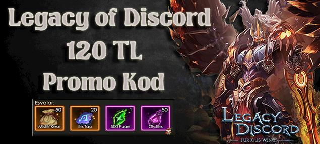 Legacy of Discord 120 TL değerinde promo kodu dağıtıyoruz...XGame