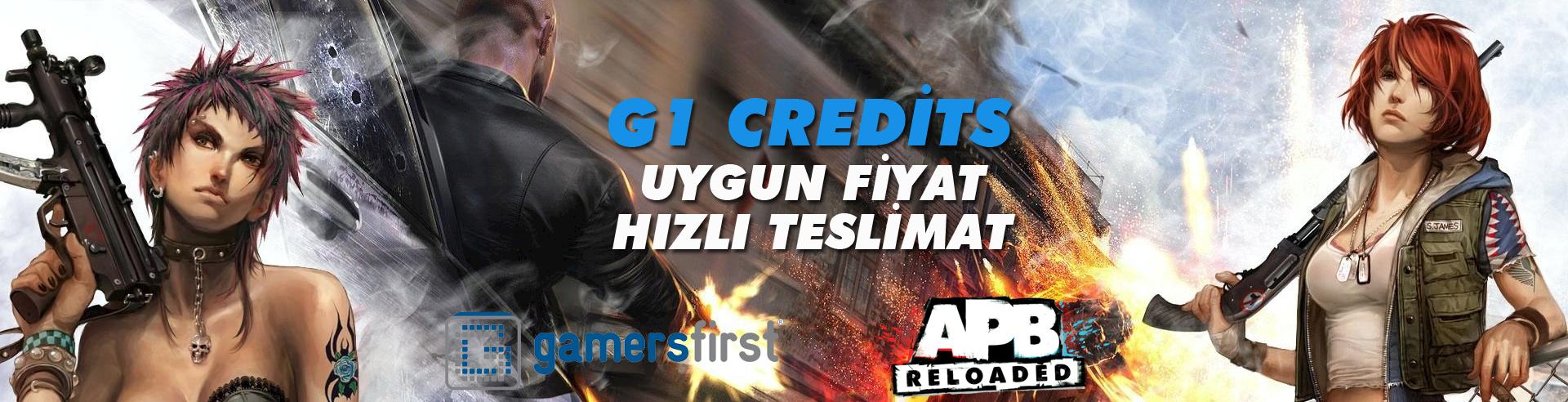 Apb G1 credits uygun fiyat hızlı teslimat