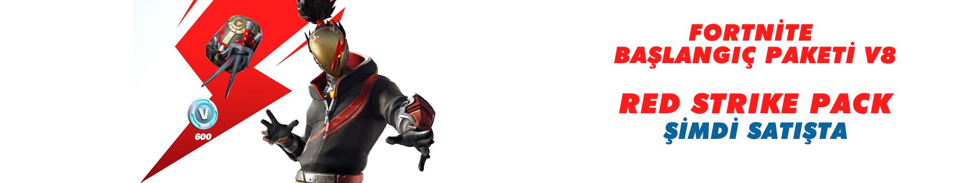 Fortnite Başlangıç Paketi V8  Kırmızı Darbe (Red Strike)