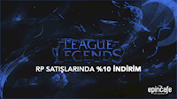 League of Legends RP %10 İNDİRİM