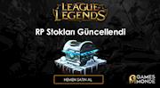 League of Legends RP Stokları Güncellendi!