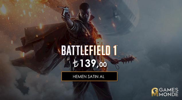 Battlefield 1 İnanılmaz Fiyatıyla Stoklarımızda!