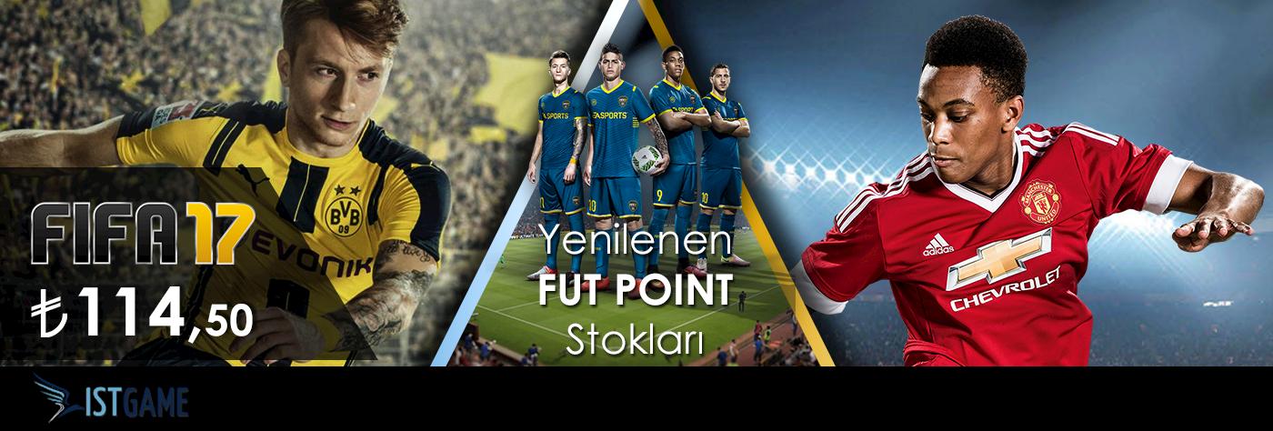 FIFA 17 ve FUT Points Stoklarımız Güncellendi!