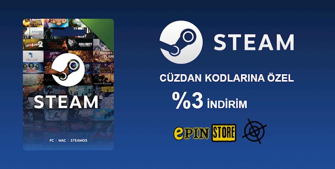 Steam Cüzdan Kodlarında İndirim!